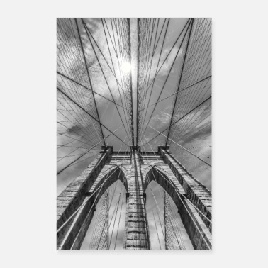 New NEW YORK CITY Brooklyn Bridge in detail - Poster