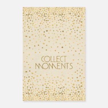 Par Tekst Art COLLECT MOMENTS | guld - Poster 60x90 cm
