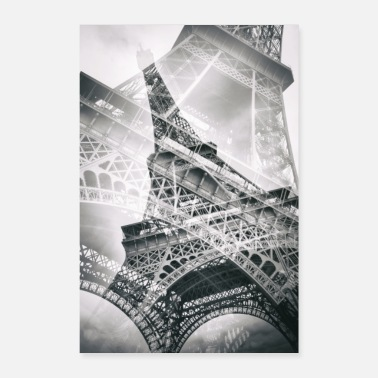 The double Eiffel tower - Poster 24 x 35 (60x90 cm)