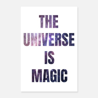 Sternchen The Universe is Magic white - Poster