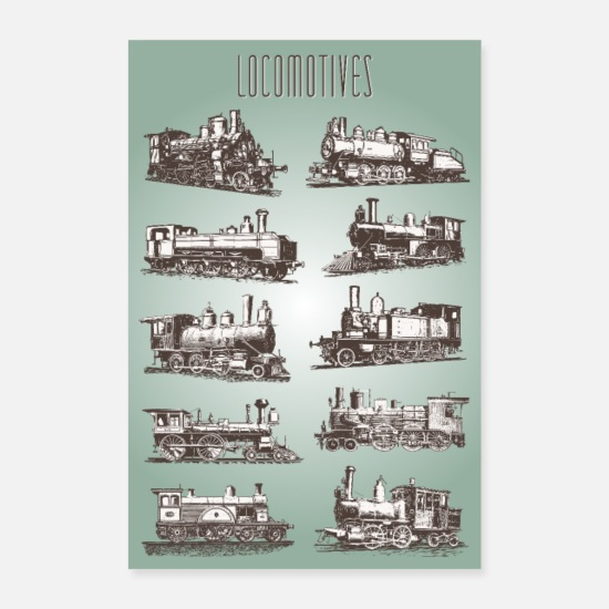 Nostalgia Posters - Locomotives Poster #Poster # Railway # Steam Locomotive - Posters white