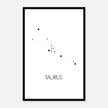 Constellation Constellation Taurus (bull) - Poster