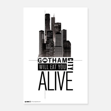 Comic Batman Gotham Eat You Alive - Poster 60 x 90 cm
