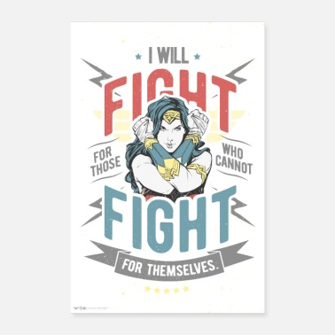 Wonder Woman Fight for those who cannot fight - Poster 60x90 cm