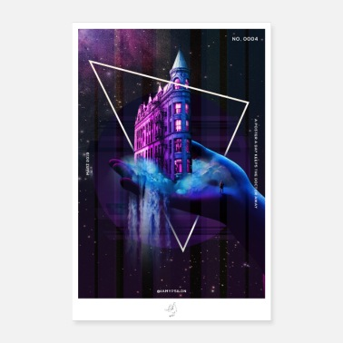 Surreale Galaxy City - Poster