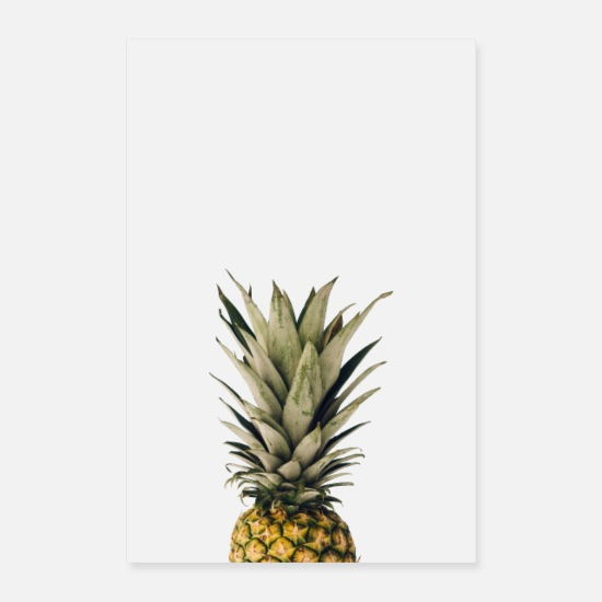 Gift Idea Posters - Pineapple art print - Posters white