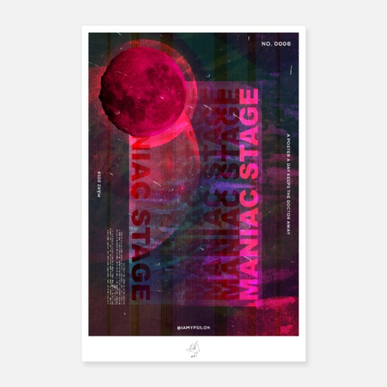 Saturn Posters - Maniac Stage - Posters hvid