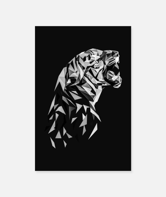 Polygon Posters - Tiger Low Polygon Tiger Low Poly Tiger - Posters white