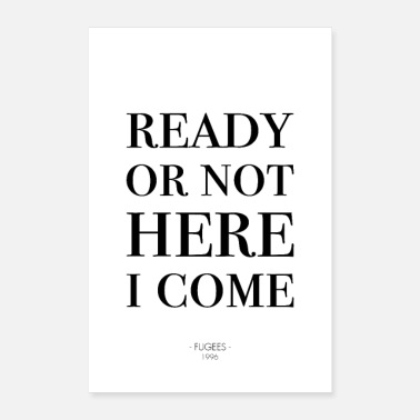 Typography Typography Ready or not - Poster