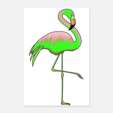 Trendy Flamingo Trend Poster - Poster