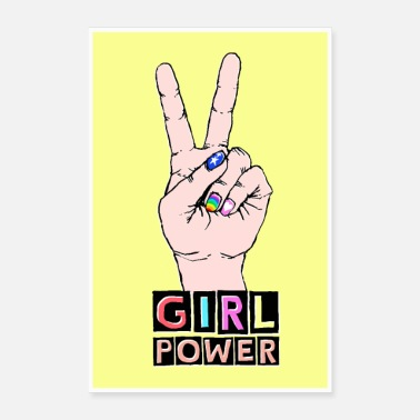 Power Poster: GIRL POWER - GRLPWR by heyK in yellow - Poster