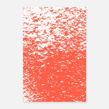 Flake pattern flakes red - Poster