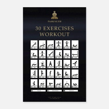 Exercise Pahuyuth 30 Exercises Workout - Poster