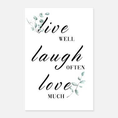 Tycka Om Live Laught Love Poster - Poster