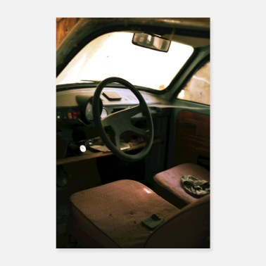 East Germany TRABBI interior poster - Poster