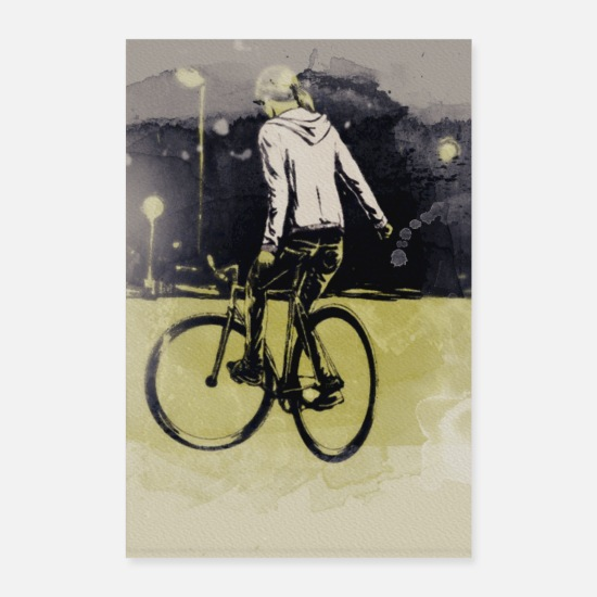Bicyclette Posters - Vélo Life.Bicycle.Way.Fast.Trick. - Posters blanc