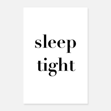 sleep tight Statement Poster - Poster