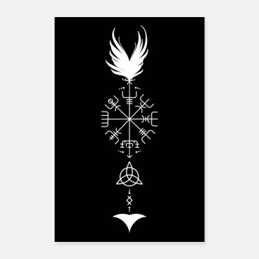 Celte Viking arrow | Vegvisir | Celts | Triquetra - Poster