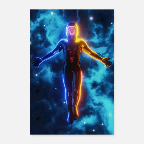 Nasa Posters - Space Man - Posters white