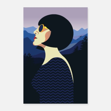Art Art Deco | Retro woman - Poster
