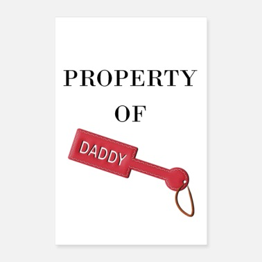 Daddy Kinky Paddle BDSM skinn Property of Daddy - Poster