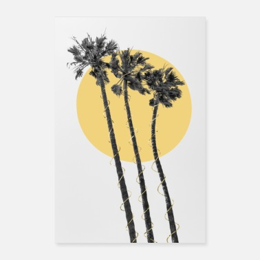 Palm Palm trees in the sun - Poster
