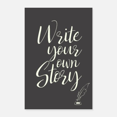 Writing write your own story - Poster