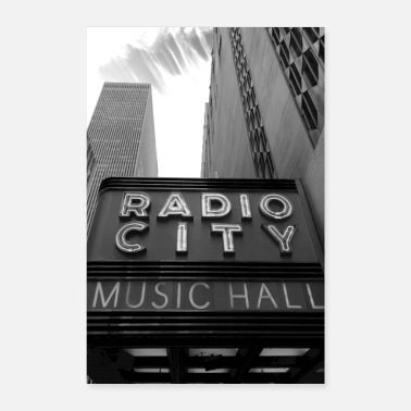Hall NEW YORK Radio City - Poster
