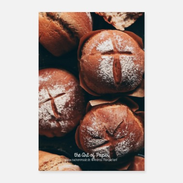 Dine Baking Bread - Kitchen Art - 01 - Poster