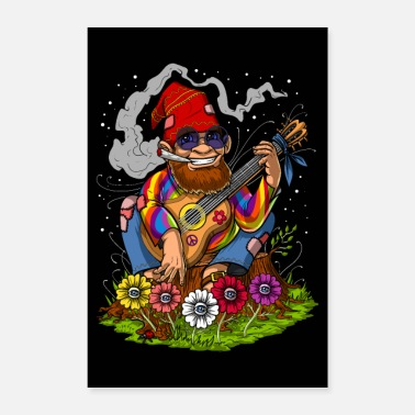 Hippie Gnome Forest Hippie - Poster