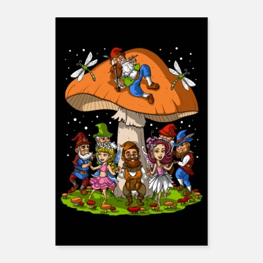 Festival Forest Gnome Party - Poster
