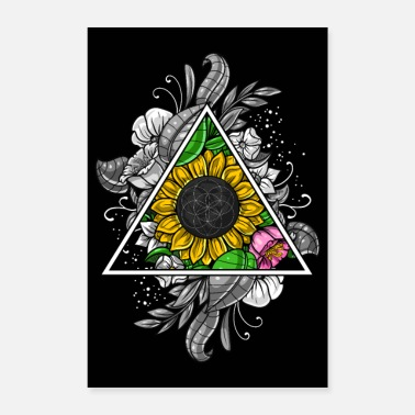Sacred Geometry Sunflower Sacred Geometry - Poster