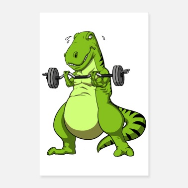 Fitness Fitness T-Rex Dinosaurier - Poster