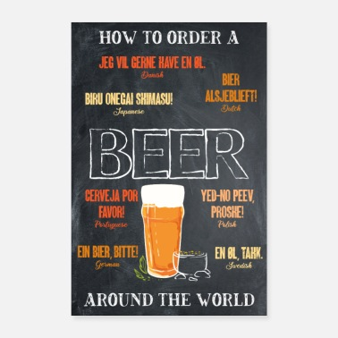 Love How To Order A Beer Around The World Beer Garden - Poster