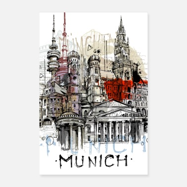 Bavaria Munich collage - Poster