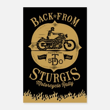 Mechanic Back from Sturgis - Poster