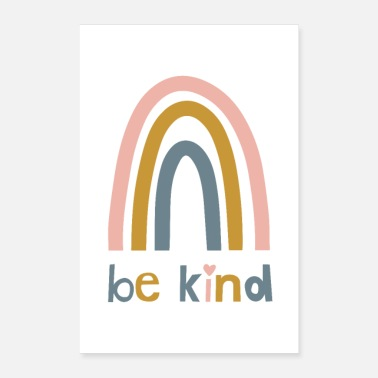 Day Be Kind - Colorful poster for children - Poster