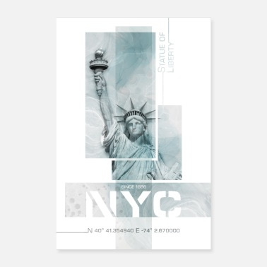NYC Statue of Liberty | Marmor turkis - Poster