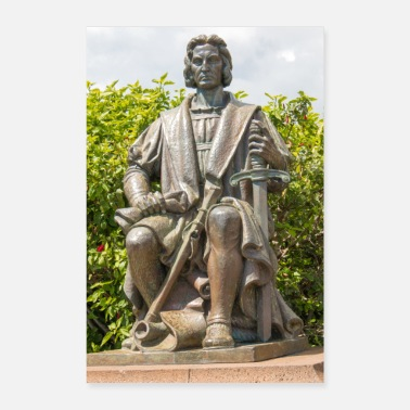 Portugal Funchal Statue af Christopher Columbus Madeira - Poster