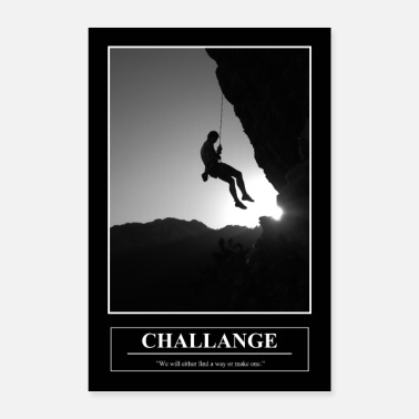 Barney's Motivational Poster CHALLANGE - Poster