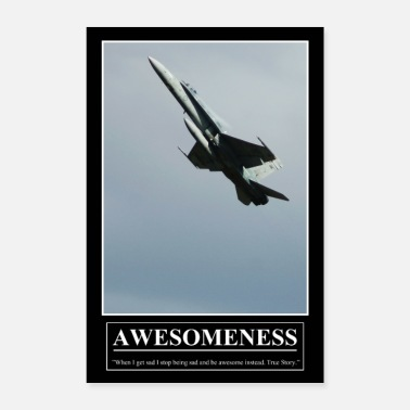 Barney's Motivational Poster AWESOMENESS - Poster