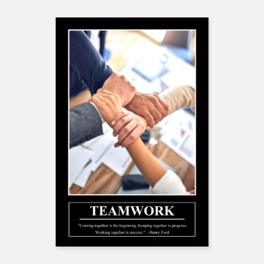 Barney's Motivational Poster TEAMWORK - Poster
