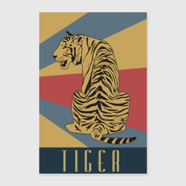 Old School Tiger Retro Balitic Javat Old School - Poster 60x90 cm