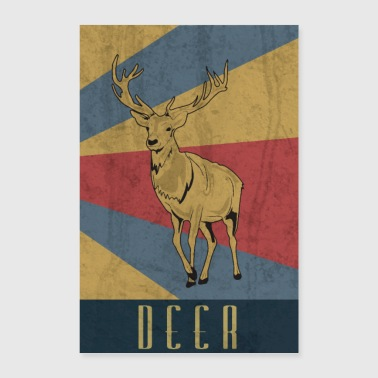 Deer antler hunter forest hunting gift - Poster 24 x 35 (60x90 cm)