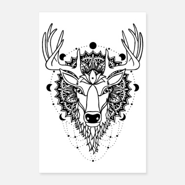Reiki Deer - power animal - Poster
