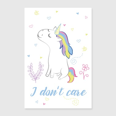 I do not care - Poster 24 x 35 (60x90 cm)