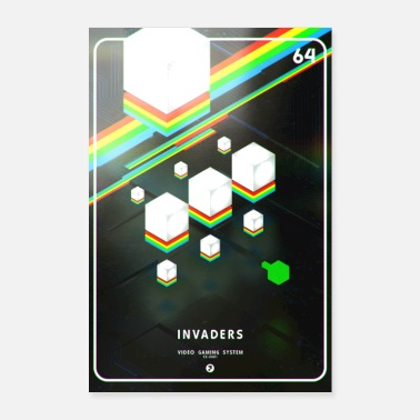Game INVADERS - Poster 24 x 35 (60x90 cm)