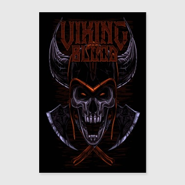Viking Blood Odin Walhalla Viking Gift - Poster 60x90 cm