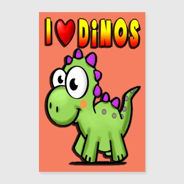 Dino poster, gift for kids room, kids - Poster 24 x 35 (60x90 cm)