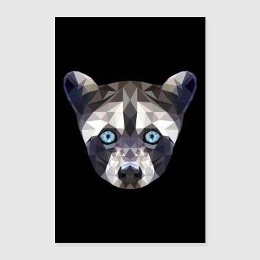 WASHBAR ANIMAL FACE GIFT BLUE EYES POSTER - Poster 24 x 35 (60x90 cm)